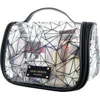 Necessaire De Viagem Transparente Jacki Design Crystal Preto