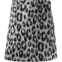 Andamane Snow Leopard Felt Mini Skirt - Preto