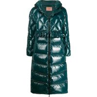 Twin-Set Padded Long Coat - Verde