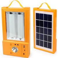 Painel Solar Multiuso Holofote Lanterna Luminária Ventilador Powerbank Camping Pescaria - Unissex