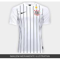 Camisa Corinthians I 19/20 - Estrela De Davi - Torcedor Nike Masculina - Masculino-Branco+Preto