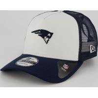 Boné New Era Nfl New England Patriots 940 Branco E Marinho