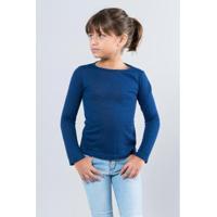 Blusa Infantil Malha Noite Reserva Mini Feminina - Feminino-Azul Escuro