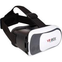 """Óculos De Realidade Virtual 3D Vr Box Para Smartphones 3,5"""" A 6,0"""" Branco"""