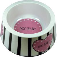 "Comedouro ""Dog Baby""- Branco & Preto- 720Ml- Polpolo Exchange"