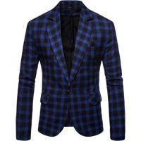 Blazer Masculino Xadrez - Azul G