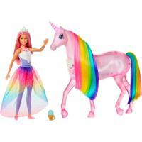 Barbie Unicórnio De Luzes Mágicas - Mattel - Kanui