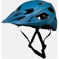 Capacete Ciclismo Bike Azul Enduro Damatta In-Mold Com Regulagem Traseira