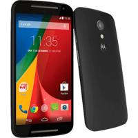 "Smartphone Motorola Moto G Xt1068 Preto - 8Mp - 8Gb - Desbloqueado - Tela 5"" - Android 4.4"