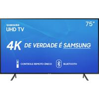 "Smart Tv Led 75"" Samsung 75Ru7100 Uhd 4K, Bluetooth, Hdmi, Usb, Hdr Premium, Controle Remoto Único Bivolt"