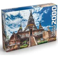 Quebra Cabeça Peças Templo Tailandês Grow - Unissex-Incolor