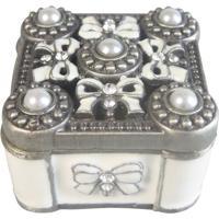 Porta Joias Cristal Com Recorte- Prata & Cristal- 5Xbtc Decor