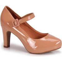 819557c808 Sapato Scarpin Vizzano Boneca Verniz - Feminino-Nude