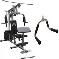Estação De Musculação Com 80Kg Aparelho Ginástica Academia Puxador Wct Fitness 1001106