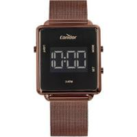 Relógio Condor Digital Trendy Cobjf156Ad/4M Feminino - Feminino-Marrom