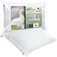 Travesseiro Fibrasca Ecopluma Branco