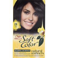Tintura Wella Soft Color Kit Creme Sem Amônia Cor 20 Preto