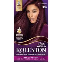 Tintura Creme Koleston Nº366 Acaju Púrpura Wella 1 Unidade