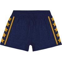 Short Bicolor Estrelas - Azul Marinho Amarelo- Teeyoung