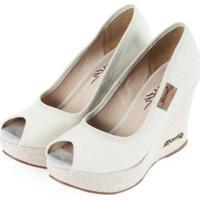 Sapato Barth Shoes Land Peep Toe Areia