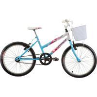 Bicicleta Aro 20 Feminina Sem Marcha Azul Track Bikes