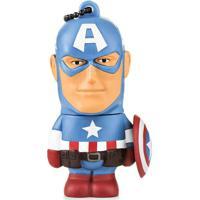 Pen Drive Marvel Vingadores Capitão América 8Gb Usb Leitura 10Mb/S E Gravação 3Mb/S Multilaser - Pd080 - Padrão