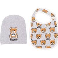 Moschino Kids Teddy Bear Bib And Hat Set - Cinza