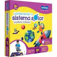 Quebra-Cabeça Grandão - Conhecendo O Sistema Solar - 120 Peças - Toyster - Unissex-Incolor