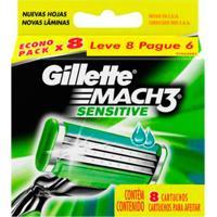 Carga Gillette Mach3 Sensitive 8 Unidades - Unissex-Incolor