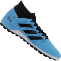 Chuteira Society Adidas Predator 19.3 Tf - Adulto - Aqua