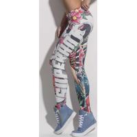 Calça Legging Superhot Ink Geisha Sublimada M
