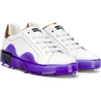 Dolce & Gabbana Kids Contrast Low-Top Sneakers - Branco