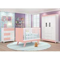 Dormitório Encanto Branco/Rose - Lc Móveis