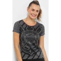 Camiseta Corinthians Fio Tinto Shadow Feminina - Feminino