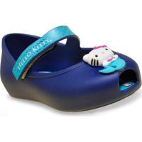 Sapatilha Fem Infantil Grendene 21480 Hello Kitty Criaturas Magicas Azul Opaco