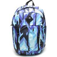 Mochila Nike Aura Print Azul/Preta