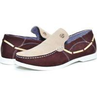 Mocassim Couro Shoes Grand Copacabana Masculino - Masculino-Bordô