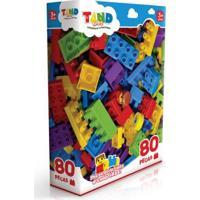 Blocos De Montar Toyster Tand Kids - 80 Peças - Unissex-Incolor