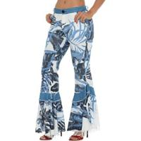 e7dd9a867 Calça Jeans Denuncia Flare Low Feminina - Feminino-Azul