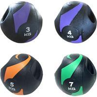 Bolas De Peso Medicine Ball Com Pegada 4 Pesos - Liveup - Unissex