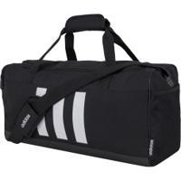 Mala Adidas 3-Stripes Duffel Pequena - 25 Litros - Preto/Branco