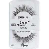Cílios Postiços Luv Beauty - Luv My Lashes Queen Pack Unitário - Feminino-Incolor