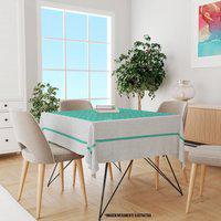 Toalha De Mesa Quadrada Para 4 Lugares Poá Verde 1.45M X 1.45M Único
