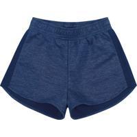 Short Com Recorte- Azul Escuro & Azul Marinho- Teenkamylu'S