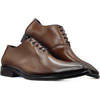 Sapato Social Oxford Masculino Bico Arredondado Sola Couro Mod 2001 Bronze