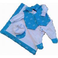Saída Maternidade Inverno Plush Joaquim Azul
