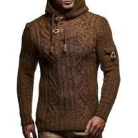 Cardigan Masculino Knit Button - Marrom Xg