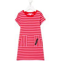 Little Marc Jacobs Vestido Decote Careca Com Listras - Vermelho