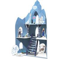 Playset - Castelo De Madeira - Disney - Frozen - Xalingo - Feminino-Incolor