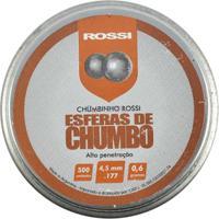 Chumbinho Esférico Rossi 4.5Mm 500Un. - Unissex